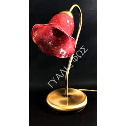 Πορτατίφ με φυσητό γυαλί ροδί