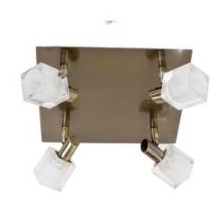 Τετραπλό σποτ με τετράγωνο γυαλί