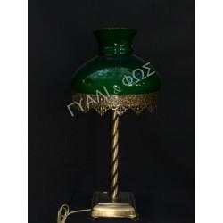 Μπρονζέ βάση με πράσινη  καμπάνα 24άρα
